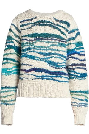 Isabel Marant Women's Serena Wool Crewneck Sweater - Ecru - Size 10