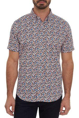 Robert Graham Men's Sail Sail Away Short-Sleeve Sport Shirt - Size Medium