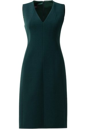 AKRIS Women's V-Neck Sleeveless Sheath Dress - Emerald - Size 2