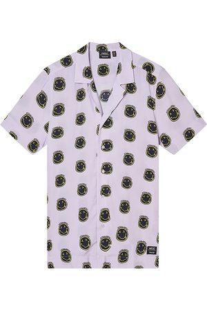 WeSC Men's Nevin Happy Camp Shirt - Orchid - Size Medium