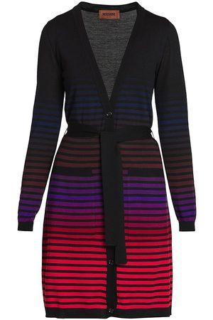 Missoni Women's Ombre Stripe Cardigan - - Size 8