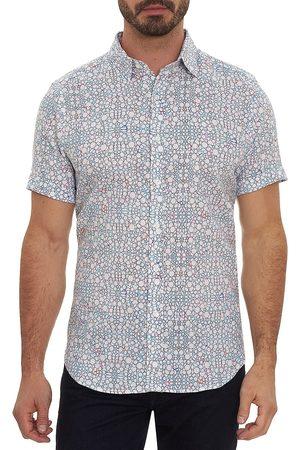 Robert Graham Men's Newland Printed Short-Sleeve Shirt - Size Small