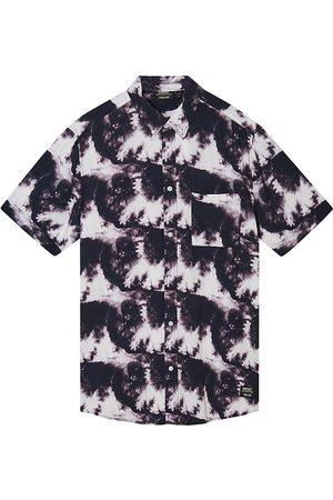 WeSC Men's Oden Tie-Dye Short-Sleeve Shirt - - Size Medium