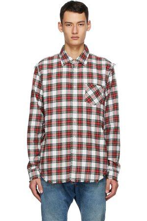 R13 Multicolor Shredded Seam Shirt