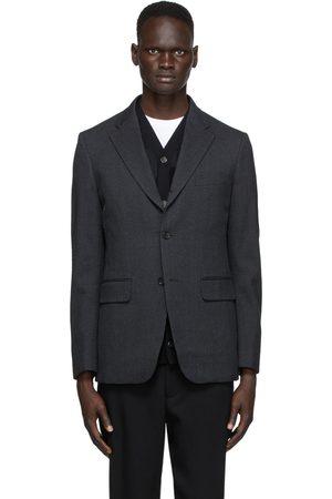 Comme des Garçons Grey Wool Twill Blazer