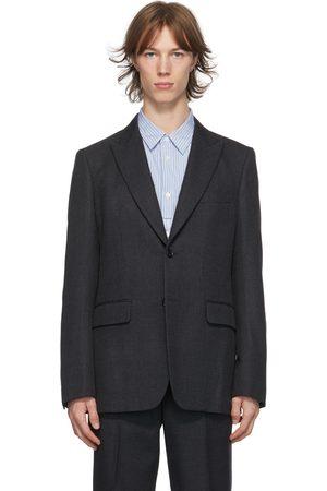 Comme des Garçons Grey Wool Yarn-Dyed Blazer