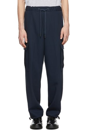HUGO BOSS Navy Wool Exit 64 Cargo Pants