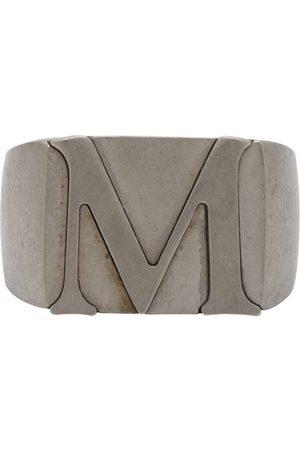 Maison Margiela Silver 'M' Signet Ring