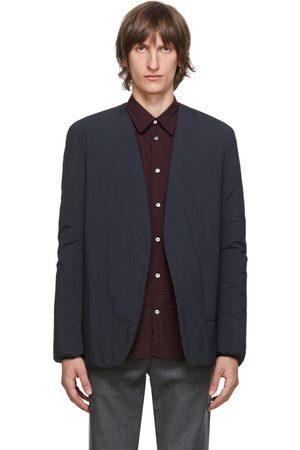 Maison Margiela Black Garment-Dyed Collarless Blazer