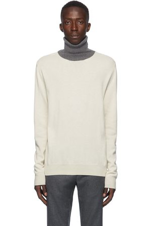 Maison Margiela Off-White Colorblock Turtleneck Sweater