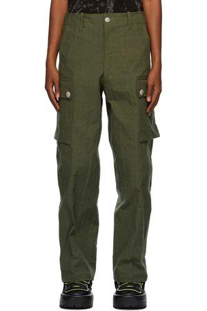 SANKUANZ Green Ripstop Cargo Pants