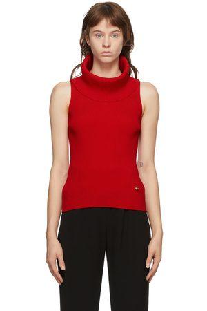 Balmain Red Knit Turtleneck