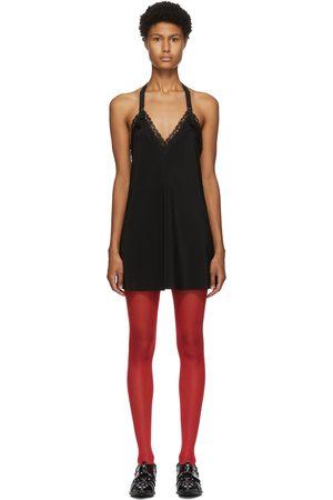 JUNYA WATANABE Black Lace Slip Dress