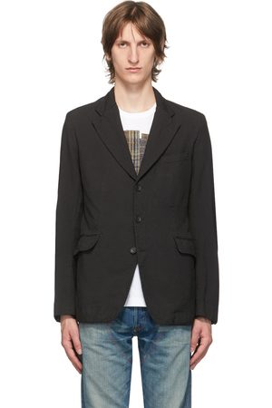 JUNYA WATANABE Black Gabardine Garment-Dyed Blazer