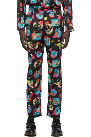 Opening Ceremony Black & Pink Mix Print Trousers