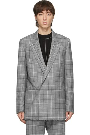 Paul Smith Grey Prince Of Wales Double-Breasted Blazer