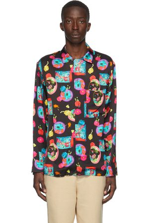 Opening Ceremony Black & Pink Graphic Shirt