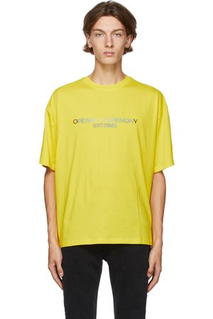 Opening Ceremony Yellow Embroidered Logo T-Shirt
