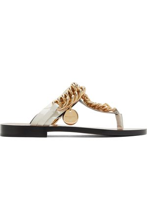 Givenchy Off-White Chain Sandals