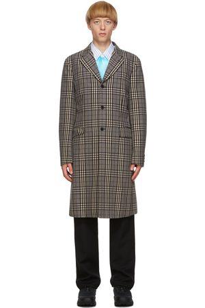 Comme des Garçons Black & Off-White Check Coat