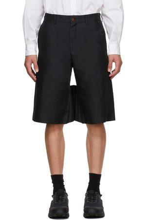 Comme des Garçons Black Twill Garment Treated Shorts