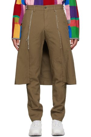 Comme des Garçons Beige Thick Oxford Skirted Trousers