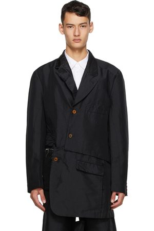 Comme des Garçons Black Double Twill Garment-Treated Blazer