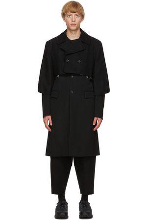 Comme des Garçons Black Wool Gabardine Layered Coat