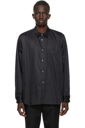 Comme des Garçons Black Broadcloth Cut-Out Shirt