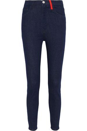 Current/Elliott Women High Waisted - Woman The Ultra High Waist High-rise Skinny Jeans Dark Denim Size 24