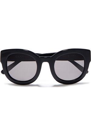 GANNI Woman Round-frame Acetate Sunglasses Size