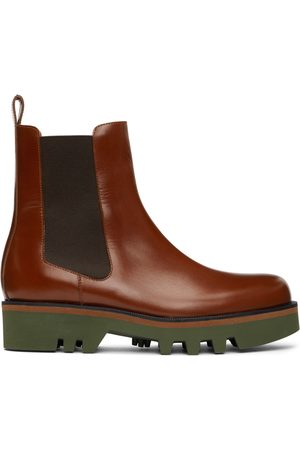 DRIES VAN NOTEN Tan Polished Chelsea Boots