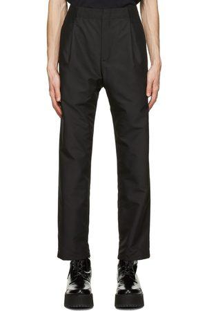 Neil Barrett Black Satin One-Pleat Trousers