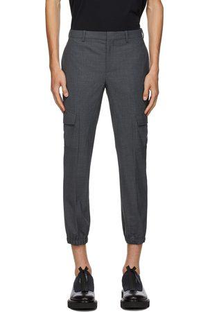 Neil Barrett Grey Wool Cargo Pants