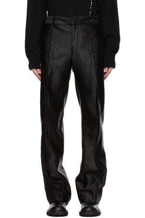 ANN DEMEULEMEESTER Black Sateen Trousers