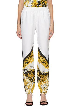 VERSACE Women Sweats - White Barocco Lounge Pants