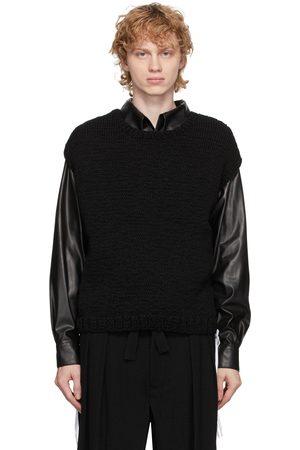 Sasquatchfabrix. Black Knit Shoe Lace Vest