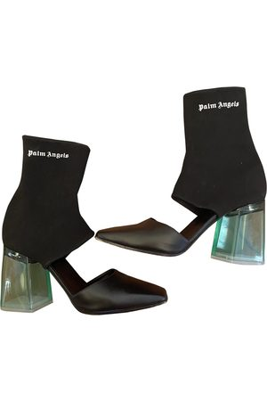 Palm Angels Leather Ankle Boots