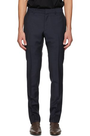 Dunhill Navy Tropical Wool Travel Trousers