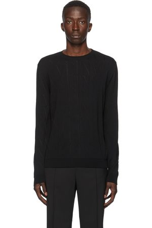 VALENTINO Black Wool 'VLTN' Sweater