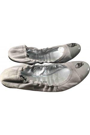 Philipp Plein Leather Ballet Flats