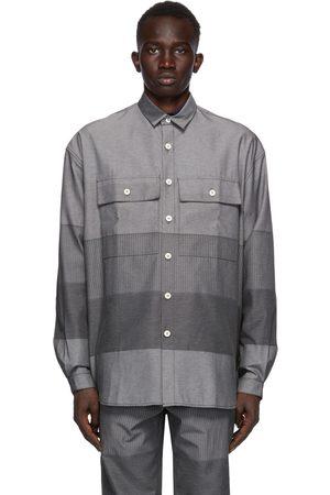 SUNNEI Grey Paneled Over Shirt