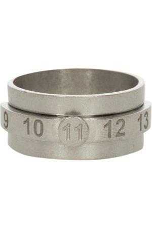 Maison Margiela Men Rings - Number layered ring PALLADIO SEMI POLISHED M