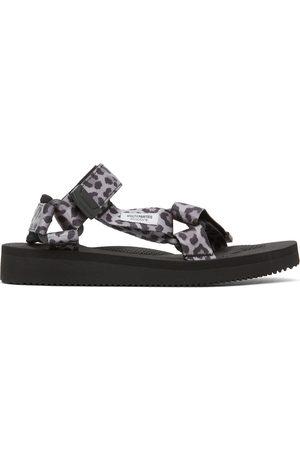 Wacko Maria Grey & Black Suicoke Edition Leopard Beach Sandals