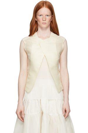 RENLI SU Off-White Mulberry Silk Waistcoat Camisole