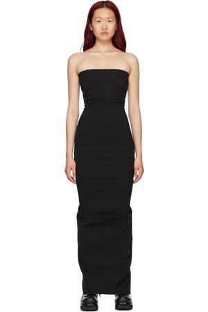 Rick Owens Black Cotton Bustier Dress