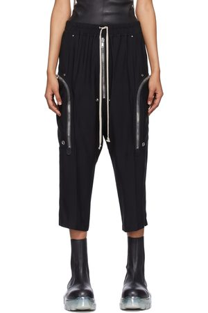 Rick Owens Black Cady Bauhaus Bela Lounge Pants