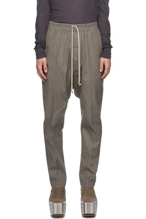 Rick Owens Taupe Long Drawstring Trousers