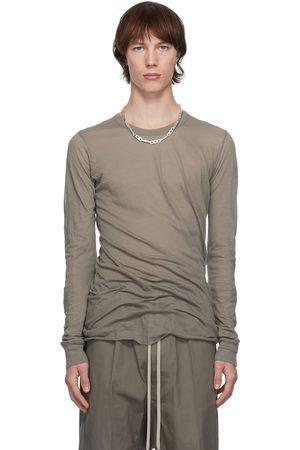 Rick Owens Grey Basic Long Sleeve T-Shirt