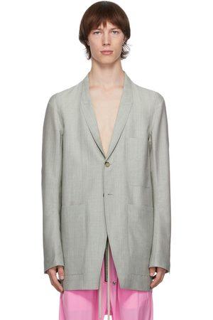 Rick Owens Grey Mohair Lido Jacket